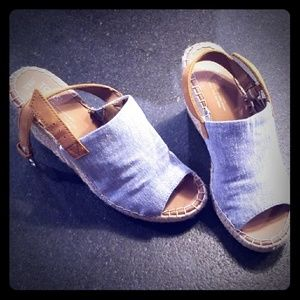Toms Wedge Sandals. Great condition!